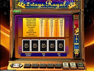 Play 2 Ways Royal Video Poker Online
