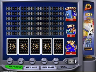 Play 25 Line Aces and Faces Video Poker Online