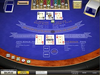 Play 3 Card Brag Blackjack Online