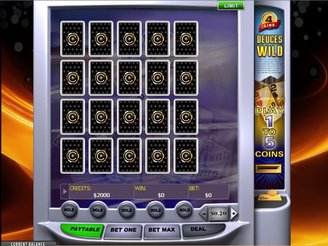 Play 4 Line Deuces Wild Video Poker Online