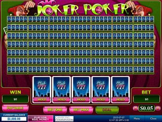 Play 50 Line Joker Poker Video Poker Online
