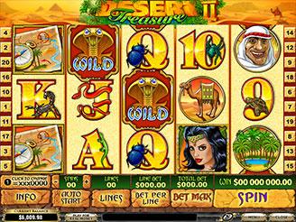 Spielen sie Desert Treasure II Spielautomaten Online