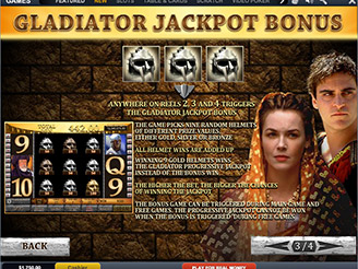Play Gladiator Jackpot Slots Online