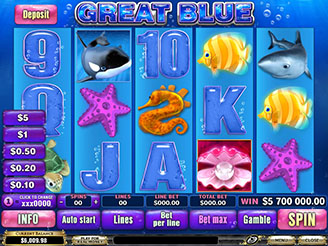 Play Great Blue Slots Online