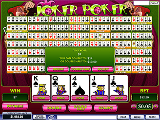 Play Joker Poker Video Poker Online