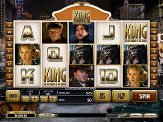 Spielen sie Kong The 8th Wonder of the World Spielautomaten Online
