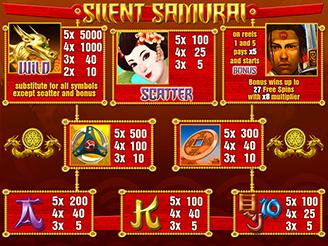 Play Silent Samurai Slots Online