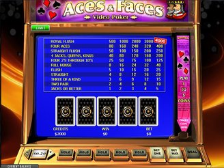 Play Aces and Faces Video Poker Online