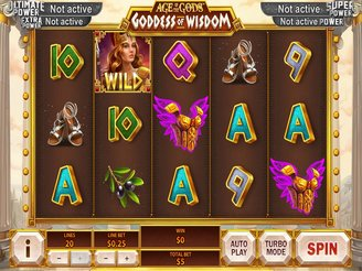 Play Age of the Gods: Goddess of Wisdom Slots Online