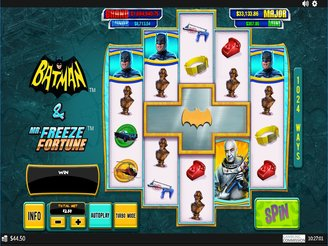 Play Batman and Mr. Freeze Fortune Slots Online