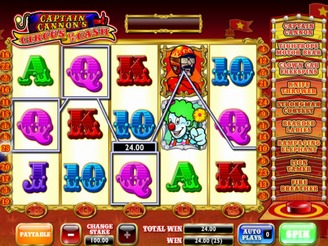 Play Captain Cannon's Circus of Cash Online