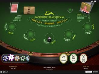 Play Cashback Blackjack Online
