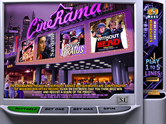 Play Cinerama 5 reel 5c Slots Online