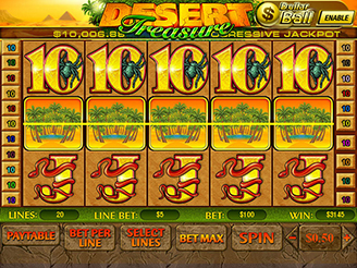 Play Desert Treasure Slots Online