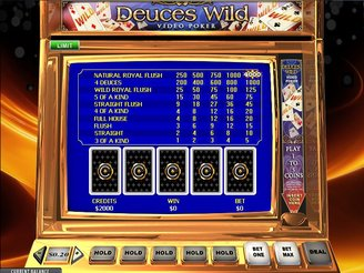 Play Deuces Wild Video Poker Online