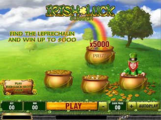 Play Irish Luck Scratch Online