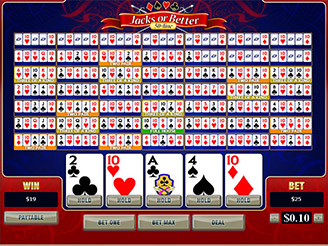Play 50 Line Jacks or Better Video Poker