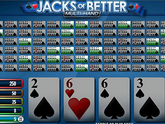 Play Jacks or Better Multi-Hand Video Poker Online