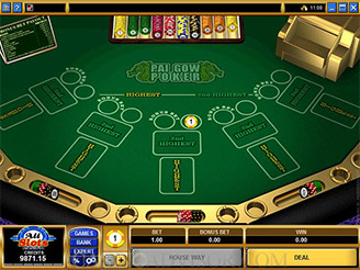 Play Pai Gow Video Poker Online