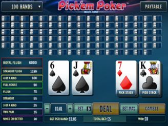 Play Pick'em Poker Video Poker Online