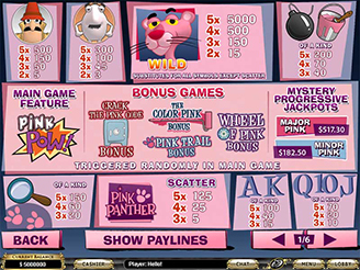Play Pink Panther Slots Online