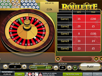 Play Roulette Scratch Online
