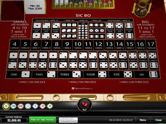 Play Sic Bo Table Game Online
