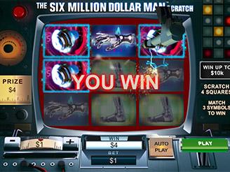 Play The Six Million Dollar Man Scratch Online