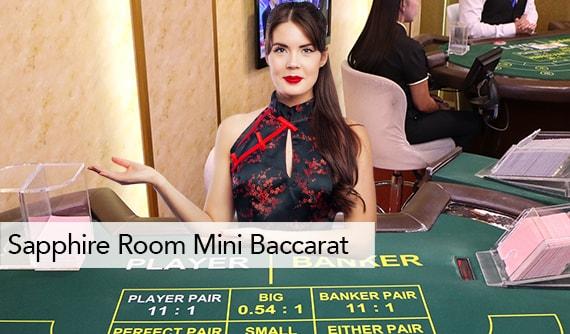 Sapphire Room Mini Baccarat Live