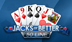 50 Line Jacks or Better Videopoker