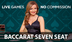No Commission 7 Seat Baccarat Live