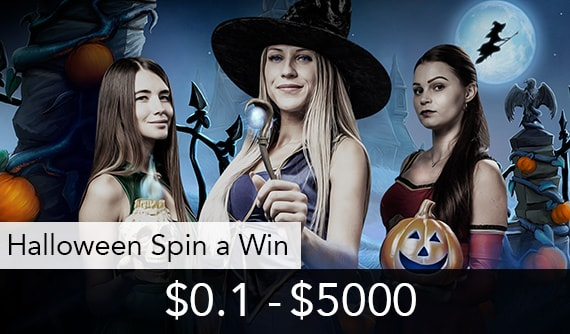 Halloween Spin a Win Live